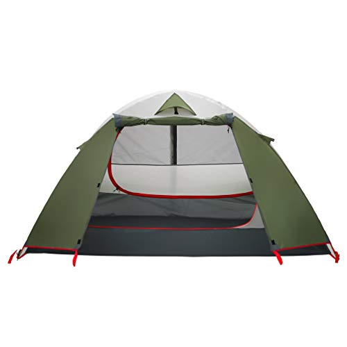 MOON LENCE Compact Camping Tent 2 Person Backpacking Tent Double Layer Outdoor Lightweight Tent Waterproof Wind Proof Anti-UV for Hiking Fishing Mountaineering