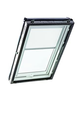 Roto R4/R7x M AL V01 Original Verdunkelungsrollo (ZRV) Dachfenster R4/R7 und Classic, Größe 06/11, Weiß (V-01)
