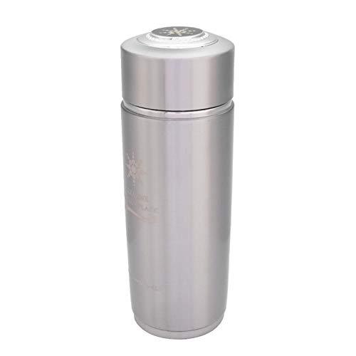 Botella de nano equilibrio de acero inoxidable, botella alcalina, matraz Nano taza, jarra duradera para cocina, hogar, su botella(Silver)
