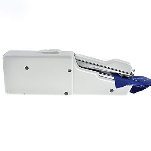 Mini machine à coudre électrique portable alimentée par piles Outil de couture pratique pour les voyages à la maison – Blanc