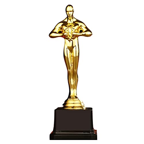zhongzhichengcheng Esculturas Decoracion Moderna Premios Oscar Trofeo Plástico Chapado En Oro Equipo Deporte Competencia Artesanía Recuerdos Fiesta Celebraciones Regalos