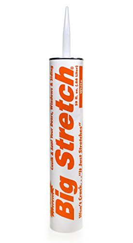 Sashco - 10086 Big Stretch Acrylic Latex High Performance Caulking Sealant, 29 oz Cartridge, White (Pack of 1)
