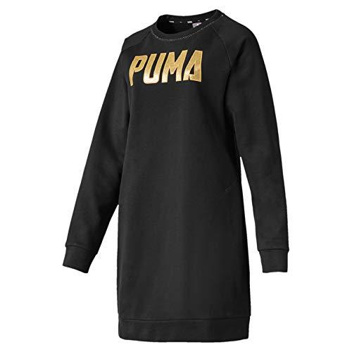 PUMA Athletics Dress FL Vestido, Mujer, Black, XS