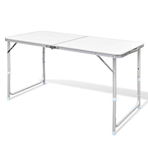 vidaXL Table Pliable de Camping Portable Balcon Terrasse Pique-Nique Extérieur