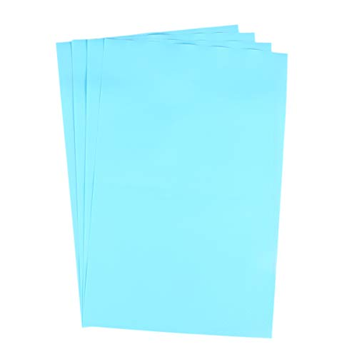 HEMOTON 4 piezas de 45 x 29 cm, forro de goma EVA, forro para estantes lavables, alfombrillas impermeables para nevera, para mesa, cajón, gabinete de cocina (azul)