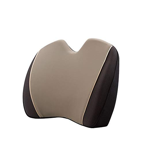 Car Seat Cushion Back Cushion Memory Foam Orthopedic Backrest Lumbar Support Pillow for Car Seat Office Computer Chair and Wheelchair Breathable Ergonomic Design Suitable for Driver's Office Staff