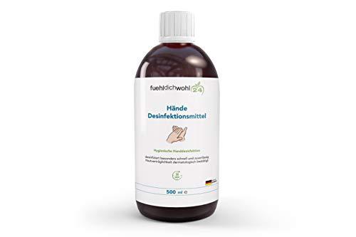 Hände-Desinfektionsmittel Zur hygienischen und schnellen Händedesinfektion Hautverträglichkeit dermatologisch bestätigt 500ml