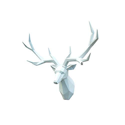 Maison de campagne Style Mur Horloge Temps Affichage Cerf Animal Personnage motif métal Living-XXL