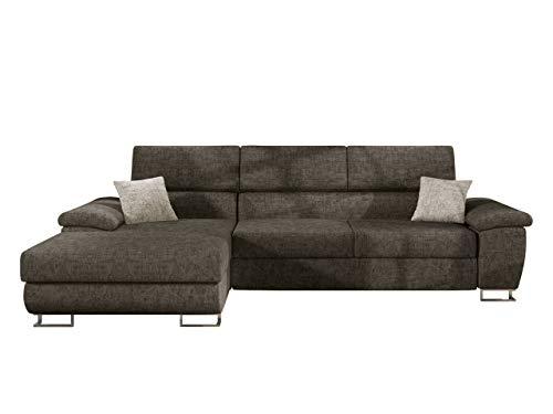 Mirjan24 Ecksofa Cotere Mini, Eckcouch Sofa Couch mit Schlaffunktion und Bettkasten L-Sofa Wohnlandschaft vom Hersteller, Polsterecke Farbauswahl (Argo 214 + Argo 214 + Argo 211, Seite: Links)