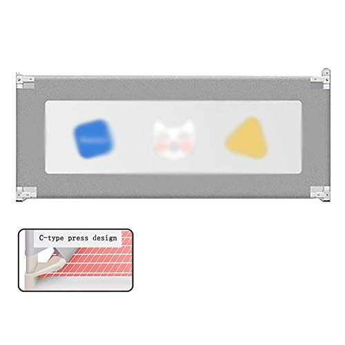 YYLL Bed Rails for Kleinkinder, extralange und Hoch Infants Reling, for Kinder Twin, Doppelzimmer, Doppelbett, Doppelmatratze (Color : Gray, Size : 1.2 m)