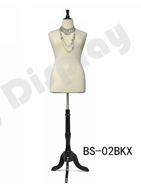 (JF-F14/16W+BS-02BKX) Size 14-16 White Female Dress Form Mannequin Plus Size 42