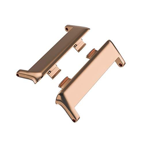 FAAGFC 1 par de pulsera de reloj inteligente 316L adaptador de conector de acero inoxidable para reloj OPPO de 41 mm/46 mm, accesorios de correa de reloj (color oro rosa, tamaño: 41 mm (20 mm)