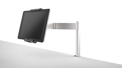 Durable 893123 Tablet Holder Table Clamp, Porta Tablet da Tavolo con Morsetto e Braccio Estendibile, 100 x 440 x 210 mm, Argento