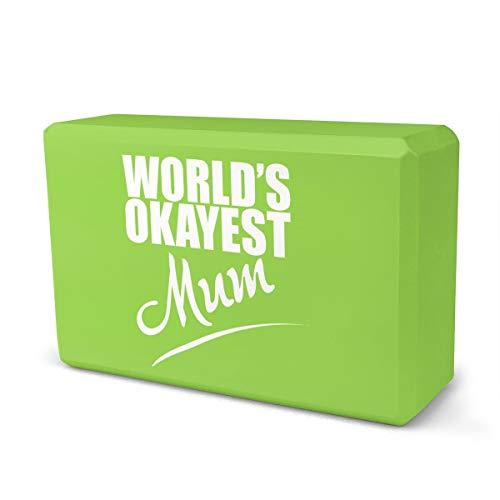 World's Okayest - Ladrillo de espuma Eva de alta densidad que proporciona estabilidad y equilibrio, ideal para ejercicio físico.
