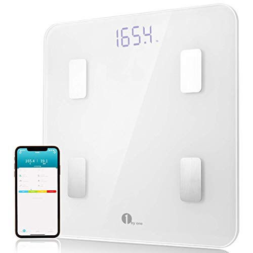 New 1byone Scales Digital Weight and Body Fat Scale, Bluetooth Bathroom Scale Track Key Body Composi...
