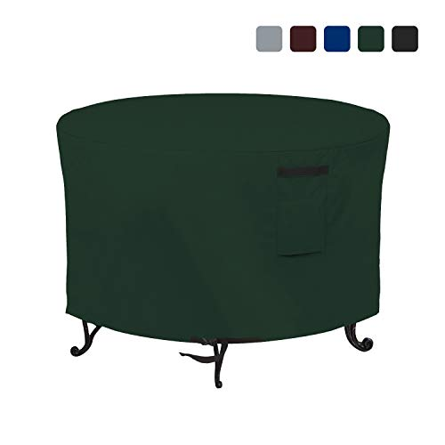 Fire Pit Outdoor Covers Waterproof, 100% UV Resistant, 18Oz PVC Heavy Duty Fabric with Air Pockets and Drawstring for Snug fit to Withstand Winds & Storms. (30 X 12 inch, Green)