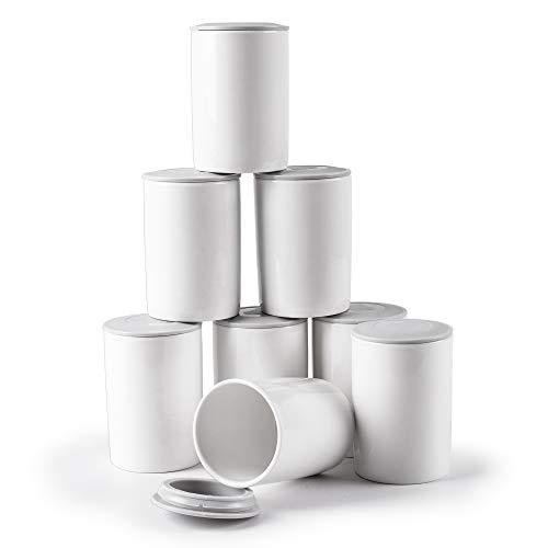 Duronic P8Y2 Vasos de 125ml de cerámica compatibles con las yogurteras Duronic YM1 y Duronic YM2