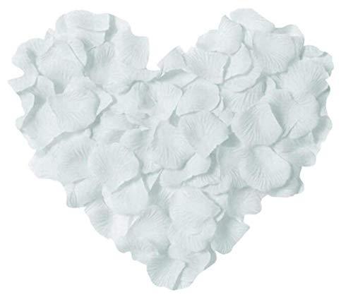 RuiChy 1000 pétalos de Rosa Artificiales de Seda para Bodas, Fiestas en el hogar, Fiestas románticas, Aniversarios, día de San Valentín…