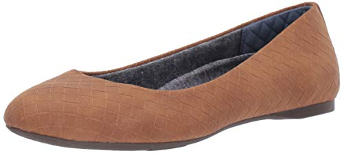 Dr. Scholl's Shoes Women's Giorgie Ballet Flat, Saddle Woven Embossed, 8 W US