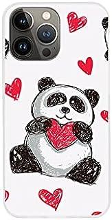 Etui na Apple iPhone 13 Pro Max - etui na telefon Fantastic Case - panda z sercem - guma case obudowa silikonowa wzory