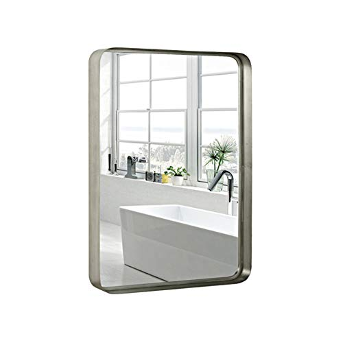 Silver Wall Framed Rectangular Mirrors for Bathrooms (22