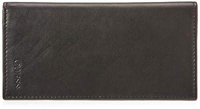 Guess Men's Leather Secretary Wallet, Black, One Size