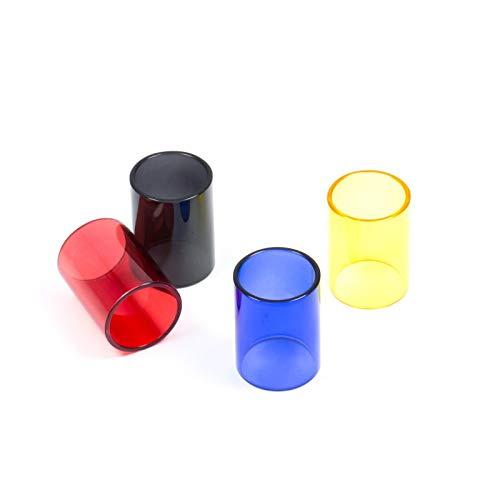 Qingtian-ceg 4 Teile/Paket Ersatzglasrohr für Subtank Mini Tank Zerstäuber Elektronische Zigarette Ersatzglas,Frei von Tabak und Nikotin (Color : Red blackbuleyellow)