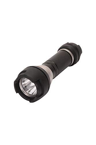 Mountain Warehouse Lampe Torche étanche - Résistante aux Chocs - en Aluminium - 3 Modes d'éclairage LED - Faisceau de 100 m - Idéale pour l'extérieur et Le Camping Noir Taille Unique