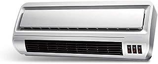 Elemento calefactor PTC Ventilador de aire frío y caliente a través de la puerta, 4 configuraciones de calefacción, calefacción eléctrica a prueba de agua de montaje en pared para baño, blanco, 220V