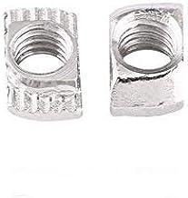 50 stuks T-schroeven, winc geplateerd, koolstofstaal, hamerkop, voor profiel van aluminium timmerwerk (EU20 x 10 x 6).