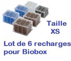 Zolux Lot de 6 filtres de Recharge biobox XS