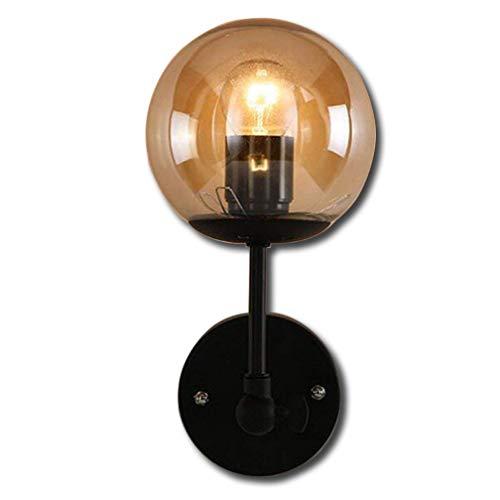 Rétro Vintage Design Lampe Mur Lampe Clair Verre Luminaire Applique Antique Déco Lampe Industrielle Titulaire Réglable E27 Edison Éclairage Intérieur pour Lampe de chevet Couloir Balcon Bar Ø13CM