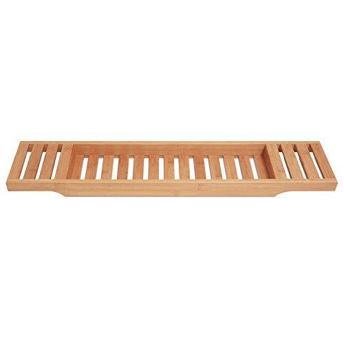 ToiletTree Products 100% Bamboo Bathtub Caddy. Holds Books, Beverages, and Smartphones