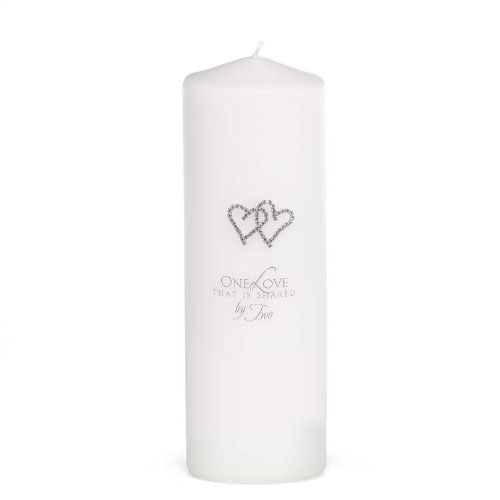 Hortense B. Hewitt Wedding Accessories with All My Heart, Unity Candle, White