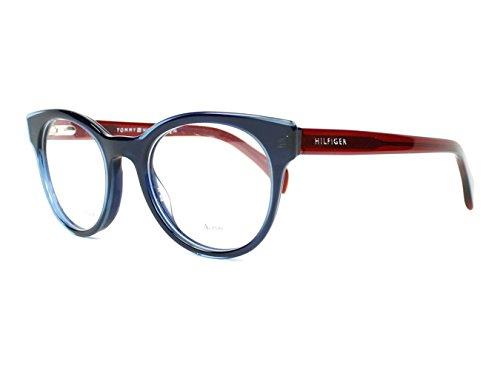 Tommy Hilfiger Damen TH 1438 L0J 47 Sonnenbrille, Blau (Blue Burgund)