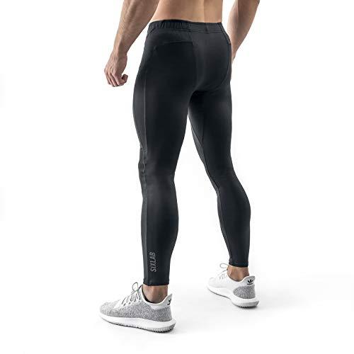 Sixlab Performance Leggings Herren Gym Fitness (M, Schwarz)
