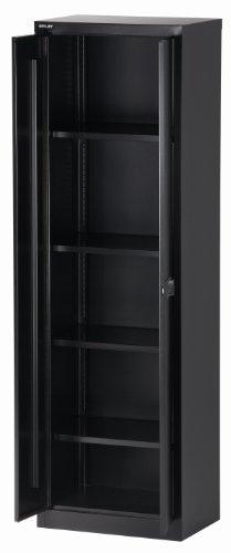 BISLEY Aktenschrank   Werkzeugschrank   Flügeltürenschrank aus Metall abschließbar inkl. 4 Einlegeböden Breite = 60 cm   in schwarz