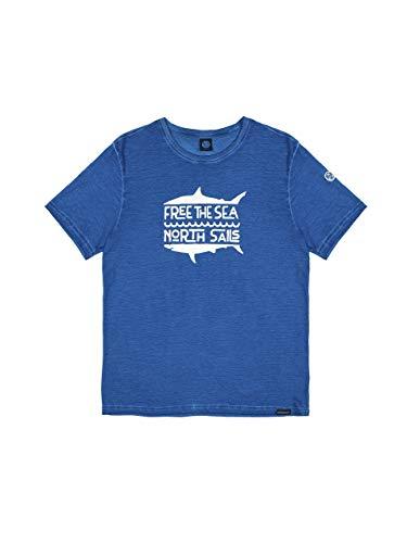 NORTH SAILS Free The Sea Herren T-Shirt in Baumwolljersey - Kurz Arm mit Rundhalsausschnitt - Normale Passform - XL