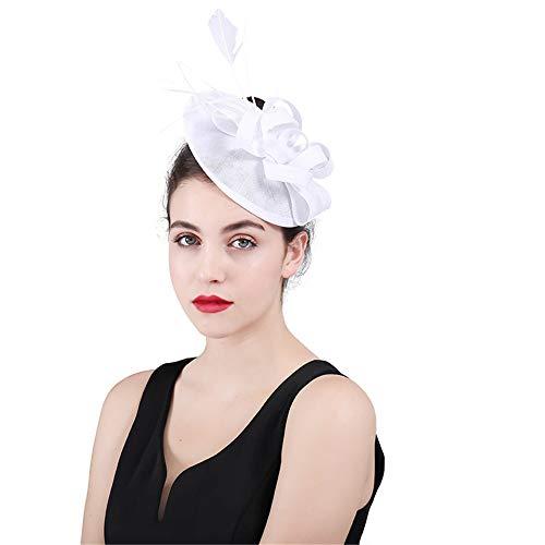 Jklj Pince à Cheveux Coiffe De Plumes Femmes Chapeau Net Fil Fleur Pillow Barrette Rétro