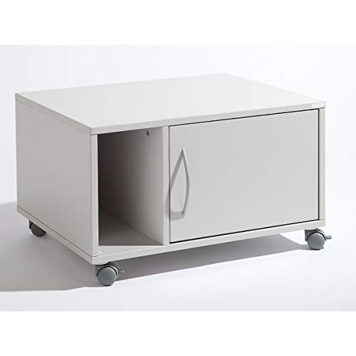 OFFICE AKKTIV Unterschrank, mobil - HxBxT 425 x 700 x 570 mm - lichtgrau RAL 7035 - Druckerschrank Druckerschränke Druckertisch Druckertische EDV Möbel EDV-Beistellmöbel EDV-Möbel Kopiertisch