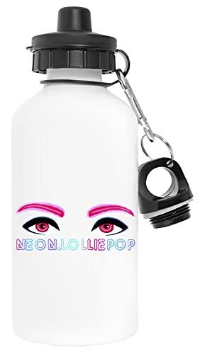 Neon Eyes Wit Waterfles Aluminium Sports Reizen Buitenshuis White Water Bottle Travel Outdoor