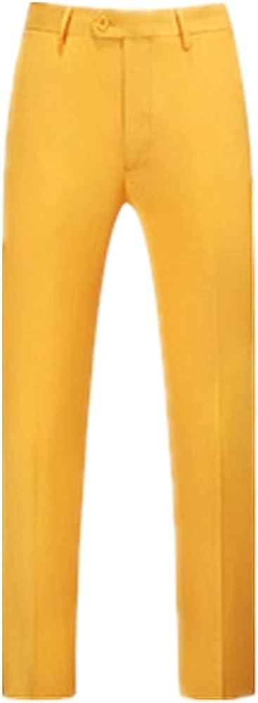 NP Men's Suit Pieces Double-Breasted Notch Lapel Flat Slim Fit Casual