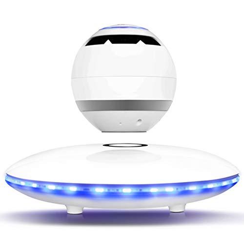 Bluetooth Wohnzimmer Schlafzimmer Rotary Magnetschwebebahn Lautsprecher Subwoofer Separate Aufzug Levitating Bluetooth-Lautsprecher 3D-Floating-Magnetschwebebahn Wireless-magnetische Levitation, Weiss