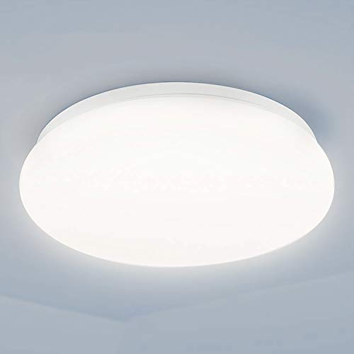 Deckenleuchte LED Deckenlampe TECKIN 24W Lampe Innenleuchte Balkonleuchte Bürodeckenleuchten, 28000H Lebensdauer&Hohes Ø33cm 2000LM, 4500K Natürliches Weiß Lampen