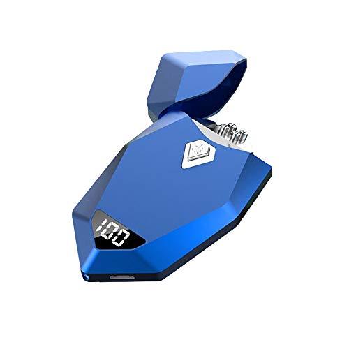 [WDMART] 電子ライター USBライター 充電ライター メタルライター 葉巻ライター 艾灸 艾条 ライタープラズマ放電式 防風 軽量 薄型 電気残量デジタル表示 誕生日プレゼント (ブルー)