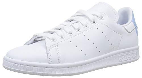 adidas Stan Smith W, Scarpe da Ginnastica Donna, Bianco (Ftwr White/Glow Blue/Ftwr White Ftwr White/Glow Blue/Ftwr White), 37 1/3 EU