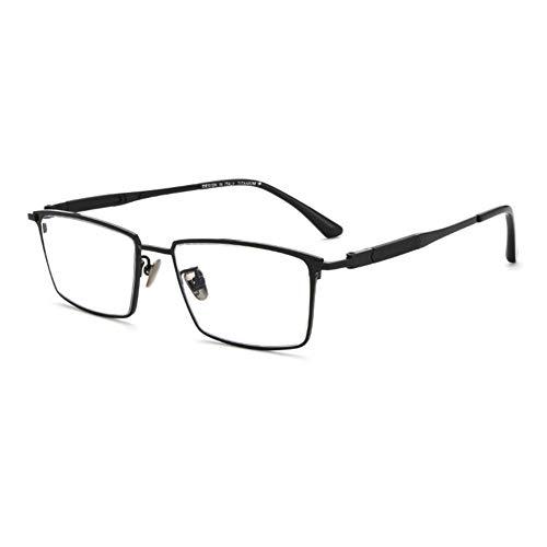 EYEphd Gafas de Lectura al Aire Libre fotocrómica multifocal progresiva de Titanio Pure Titanium, 1,56 Gafas de Sol de Lentes de Resina asférica / UV400 ampliación +1.0 a +3.0,Negro,+1.5