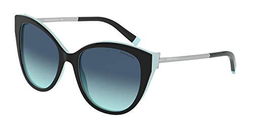 Tiffany Occhiali da Sole T TF 4166 BLACK TURQUOISE/BLUE SHADED 55/18/140 donna