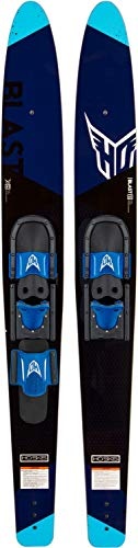 Ho Blast Combo Waterskis with Adjustable Horseshoe Bindings, 63'