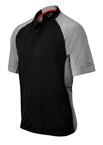 Mizuno Youth Pro 2Tasten Jersey, schwarz/grau